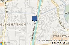 Bing Map of 9380 W Sam Ho Pkwy S Ste 250 Houston, TX 77099