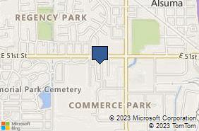 Bing Map of 9410 E 51st St Ste E Tulsa, OK 74145