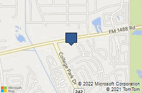 Bing Map of 9420 College Park Dr Ste 140 The Woodlands, TX 77384