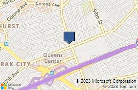 Bing Map of 9425 57th Ave Elmhurst, NY 11373