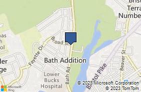 Bing Map of 945 Bath Rd Bristol, PA 19007