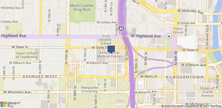 945 N 12th St Milwaukee, WI, 53233 Map