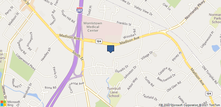 95 Madison Ave Morristown, NJ, 07960 Map