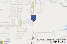 Bing Map of 950 S Fm 156 Ste 12 Justin, TX 76247