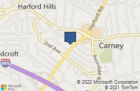 Bing Map of 9500 Harford Rd Baltimore, MD 21234
