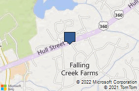 Bing Map of 9505 Hull Street Rd Ste A2 North Chesterfield, VA 23236