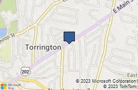 Bing Map of 954 E Main St Torrington, CT 06790