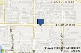 Bing Map of 9568 E Golf Links Rd Tucson, AZ 85730