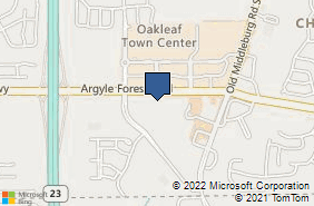 Bing Map of 9660 Argyle Forest Blvd Ste 4 Jacksonville, FL 32222