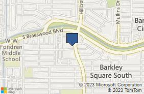 Bing Map of 9660 Hillcroft St Ste 230 Houston, TX 77096