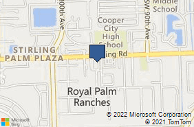 Bing Map of 9700 Stirling Rd Ste 102 Hollywood, FL 33024