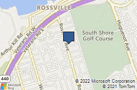 Bing Map of 971 Rossville Ave Staten Island, NY 10309