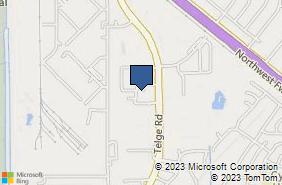 Bing Map of 9770 Whithorn Dr Houston, TX 77095