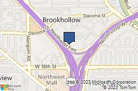 Bing Map of 9800 Northwest Fwy Ste 150 Houston, TX 77092