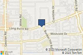 Bing Map of 9801 Long Point Rd Ste 102 Houston, TX 77055