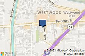 Bing Map of 9817 Bissonnet St Ste K Houston, TX 77036