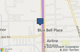 Bing Map of 9919 North Fwy Ste 102 Houston, TX 77037