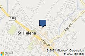 Bing Map of 999 Adams St Ste 102 Saint Helena, CA 94574