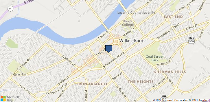 Blue Cross Of Northeastern Wilkes Barre, PA, 18701 Map