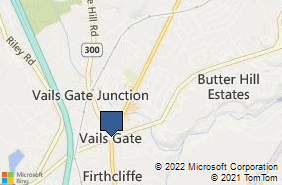 Bing Map of PO Box 867 Vails Gate, NY 12584