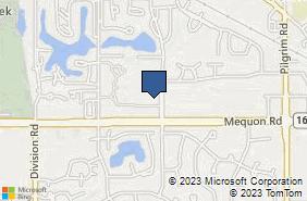 Bing Map of W164n11271 Squire Dr Germantown, WI 53022