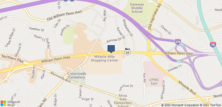 William Penn Hwy Monroeville, PA, 15146 Map