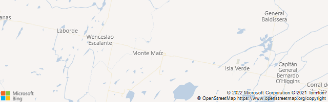 Monte Maiz, Cordoba, Argentina Map