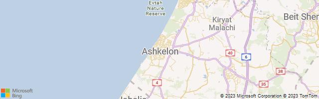 Ashquelon, Southern District, Israel Map
