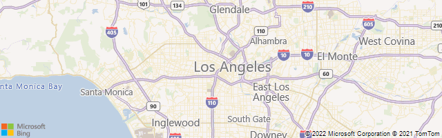 Los Angeles, California, United States Map