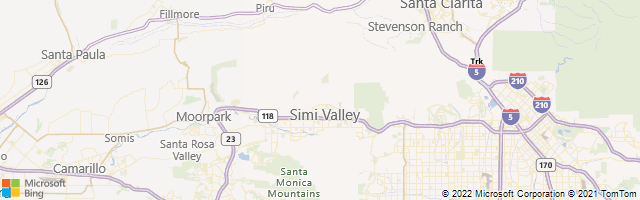Simi Valley, California, United States Map