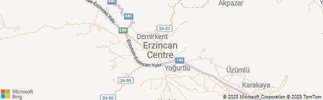 Erzincan, Erzincan, Turkey Map