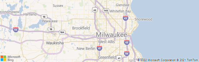 Milwaukee, Wisconsin, United States Map