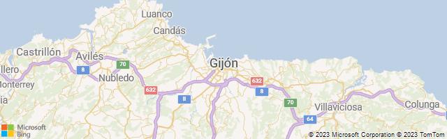 Gijón, Principality of Asturias, Spain Map