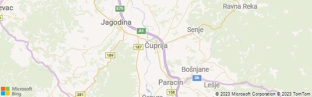 Cuprija, Pomoravlje, Serbia Map