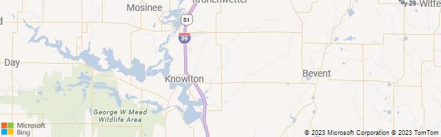 Mosinee, Wisconsin, United States Map