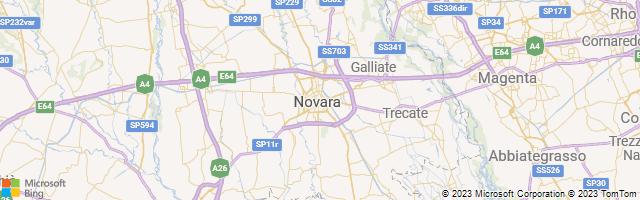 Novara, Piedmont, Italy Map