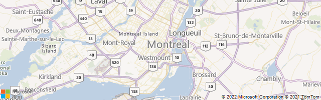 Montreal, Quebec, Canada Map