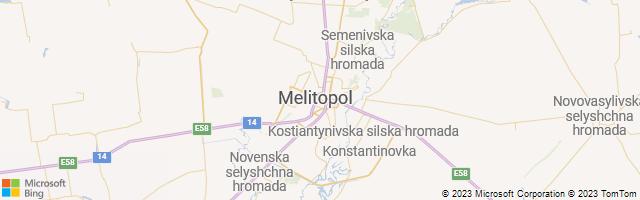 Melitopol, Zaporiz'ka Oblast', Ukraine Map