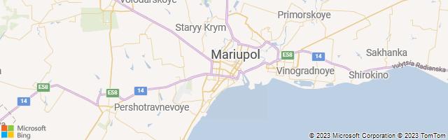 Mariupol, Donets'ka Oblast', Ukraine Map