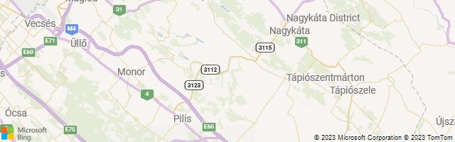 Pand, Pest megye, Hungary Map