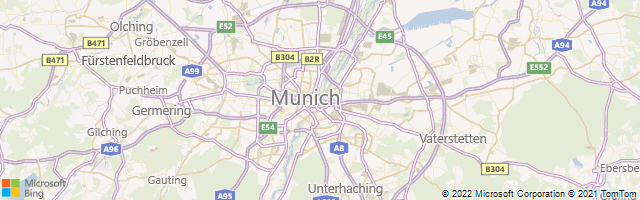 Munich, Bavaria, Germany Map