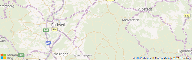 Wehingen, Baden-Württemberg Region, Germany Map