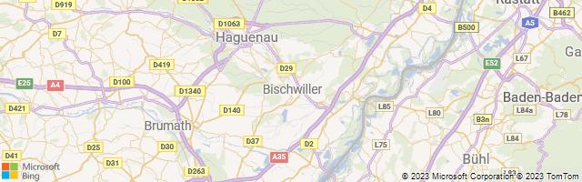 Bischwiller, Grand Est, France Map