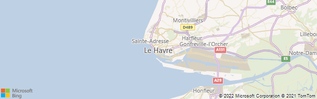 Le Havre, Normandy, France Map