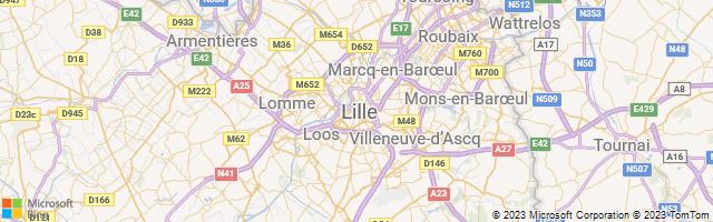 Lille, Hauts-de-France, France Map