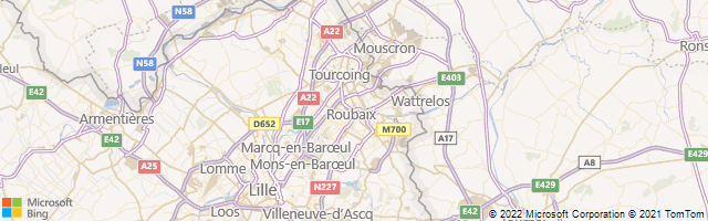 Roubaix, Nord-Pas-de-Calais, France Map