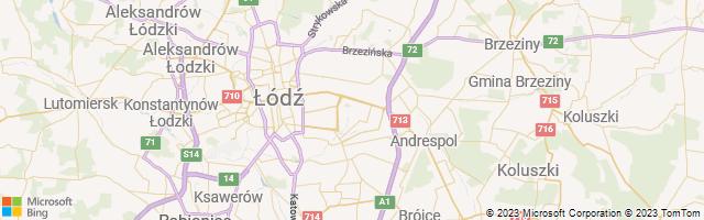 Augustów, Lodz, Poland Map