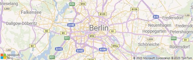 Berlin, Land Berlin, Germany Map