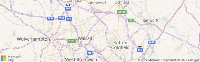 Walsall, England, United Kingdom Map