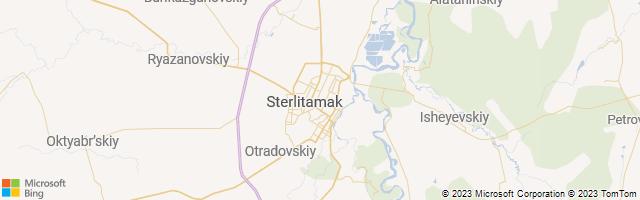 Sterlitamak, Bashkortostan Republic, Russia Map